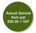 Annual service from just £90 + VAT